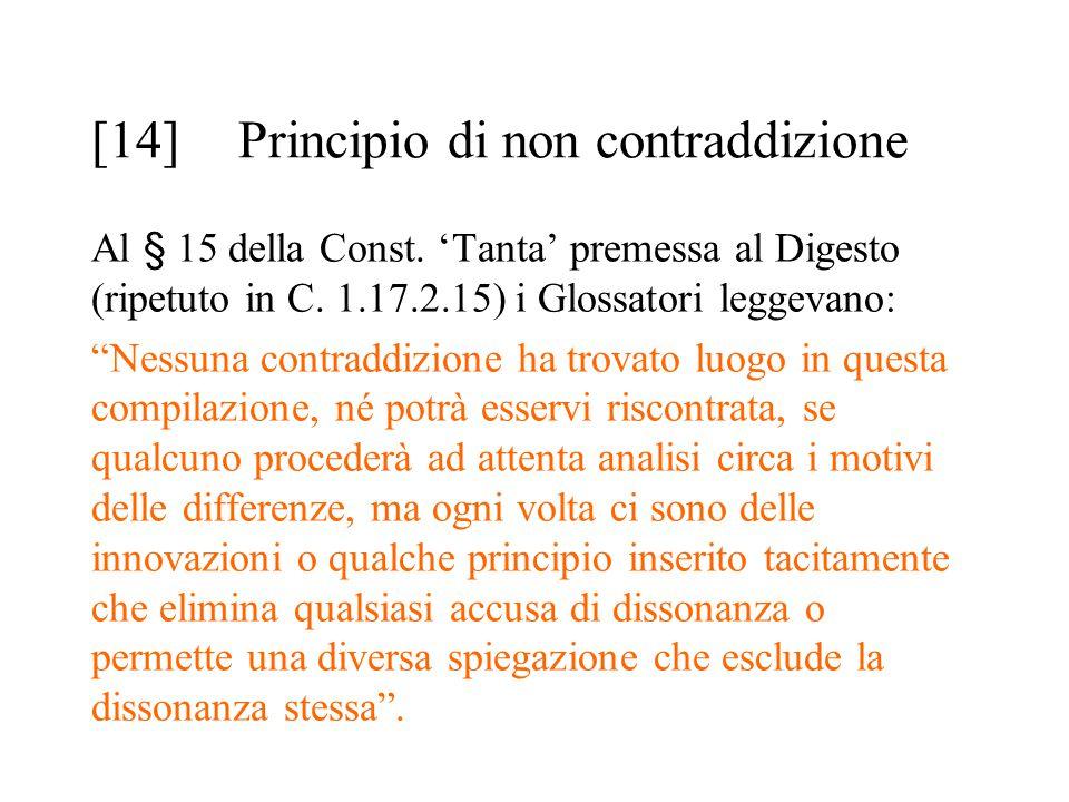 [14] Principio di non contraddizione